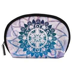 Mandalas Symmetry Meditation Round Accessory Pouches (Large)