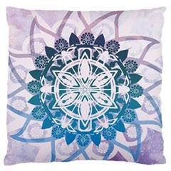 Mandalas Symmetry Meditation Round Standard Flano Cushion Case (one Side)