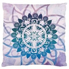 Mandalas Symmetry Meditation Round Large Flano Cushion Case (one Side)
