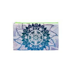 Mandalas Symmetry Meditation Round Cosmetic Bag (XS)