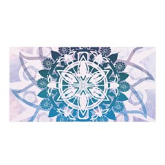 Mandalas Symmetry Meditation Round Satin Wrap
