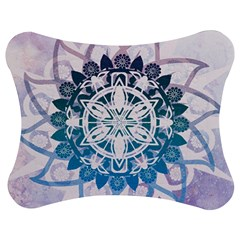 Mandalas Symmetry Meditation Round Jigsaw Puzzle Photo Stand (bow)