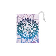 Mandalas Symmetry Meditation Round Drawstring Pouches (xs)