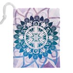 Mandalas Symmetry Meditation Round Drawstring Pouches (XXL) Back