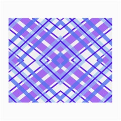 Geometric Plaid Pale Purple Blue Small Glasses Cloth