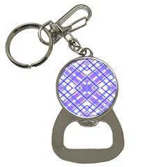 Geometric Plaid Pale Purple Blue Button Necklaces