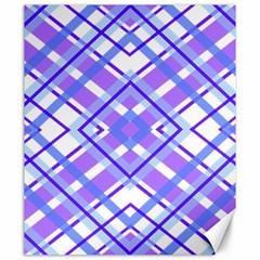 Geometric Plaid Pale Purple Blue Canvas 20  x 24