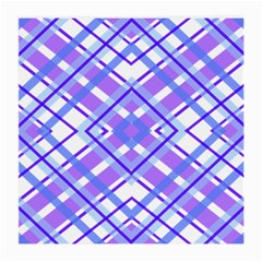Geometric Plaid Pale Purple Blue Medium Glasses Cloth