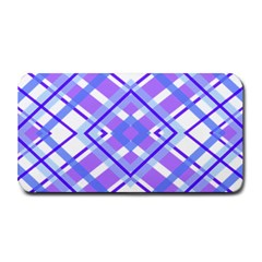 Geometric Plaid Pale Purple Blue Medium Bar Mats