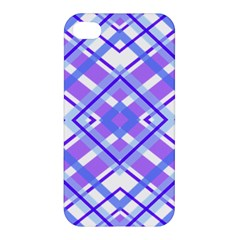 Geometric Plaid Pale Purple Blue Apple iPhone 4/4S Hardshell Case