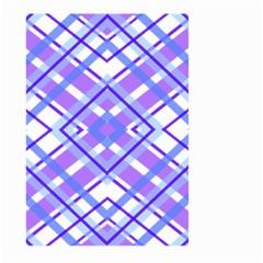 Geometric Plaid Pale Purple Blue Large Garden Flag (two Sides)