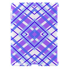 Geometric Plaid Pale Purple Blue Apple Ipad 3/4 Hardshell Case (compatible With Smart Cover)