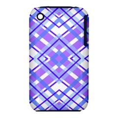 Geometric Plaid Pale Purple Blue Iphone 3s/3gs
