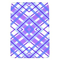 Geometric Plaid Pale Purple Blue Flap Covers (s)