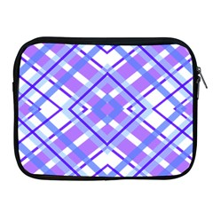 Geometric Plaid Pale Purple Blue Apple Ipad 2/3/4 Zipper Cases