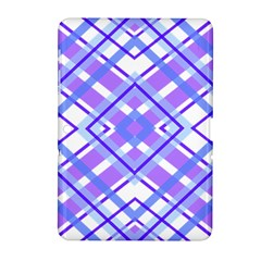Geometric Plaid Pale Purple Blue Samsung Galaxy Tab 2 (10 1 ) P5100 Hardshell Case