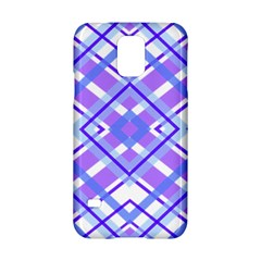 Geometric Plaid Pale Purple Blue Samsung Galaxy S5 Hardshell Case