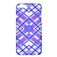 Geometric Plaid Pale Purple Blue Apple iPhone 6 Plus/6S Plus Hardshell Case