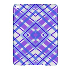 Geometric Plaid Pale Purple Blue iPad Air 2 Hardshell Cases
