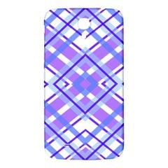 Geometric Plaid Pale Purple Blue Samsung Galaxy Mega I9200 Hardshell Back Case