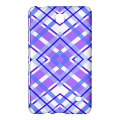 Geometric Plaid Pale Purple Blue Samsung Galaxy Tab 4 (7 ) Hardshell Case