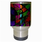 Abstract Art Squiggly Loops Multicolored Travel Mug (Silver Gray) Center