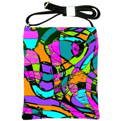 Abstract Art Squiggly Loops Multicolored Shoulder Sling Bags