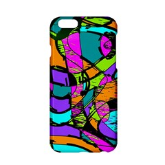 Abstract Art Squiggly Loops Multicolored Apple Iphone 6/6s Hardshell Case