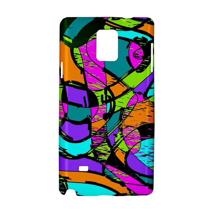 Abstract Art Squiggly Loops Multicolored Samsung Galaxy Note 4 Hardshell Case