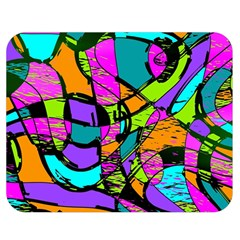 Abstract Art Squiggly Loops Multicolored Double Sided Flano Blanket (medium)