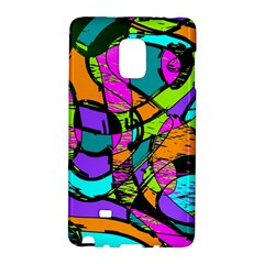 Abstract Art Squiggly Loops Multicolored Galaxy Note Edge