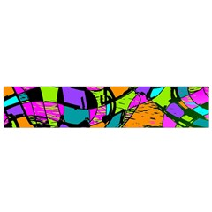 Abstract Art Squiggly Loops Multicolored Flano Scarf (small)