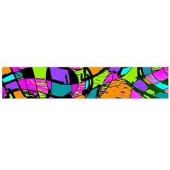 Abstract Art Squiggly Loops Multicolored Flano Scarf (large)