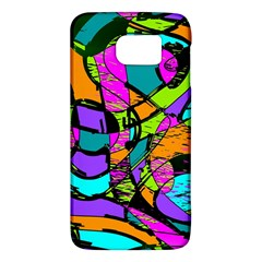 Abstract Art Squiggly Loops Multicolored Galaxy S6