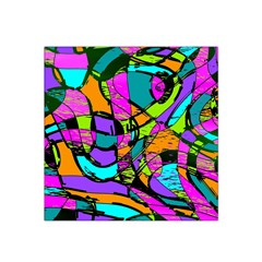 Abstract Art Squiggly Loops Multicolored Satin Bandana Scarf