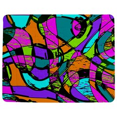 Abstract Art Squiggly Loops Multicolored Jigsaw Puzzle Photo Stand (rectangular)