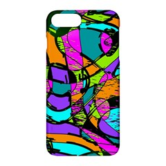 Abstract Art Squiggly Loops Multicolored Apple Iphone 7 Plus Hardshell Case