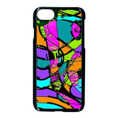 Abstract Art Squiggly Loops Multicolored Apple Iphone 7 Seamless Case (black)