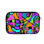 Abstract Art Squiggly Loops Multicolored Apple MacBook Pro 13  Zipper Case Front