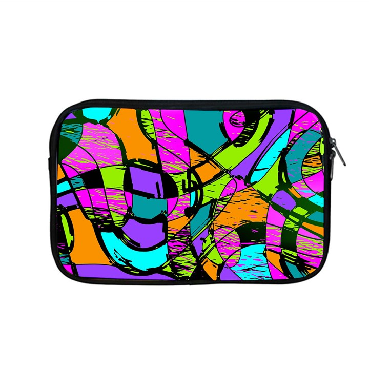 Abstract Art Squiggly Loops Multicolored Apple MacBook Pro 13  Zipper Case