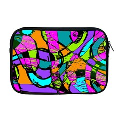 Abstract Art Squiggly Loops Multicolored Apple Macbook Pro 17  Zipper Case