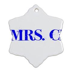 Future Mrs. Chapman Snowflake Ornament (Two Sides)