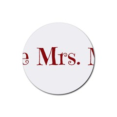 Future Mrs. Moore Rubber Round Coaster (4 pack)