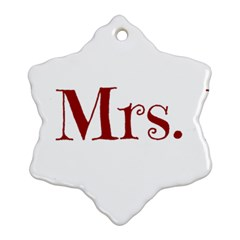 Future Mrs. Moore Snowflake Ornament (Two Sides)