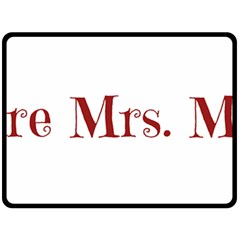 Future Mrs. Moore Double Sided Fleece Blanket (Large)