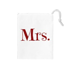 Future Mrs. Moore Drawstring Pouches (Medium)