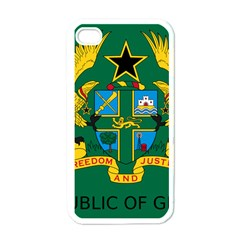 National Seal of Ghana Apple iPhone 4 Case (White)