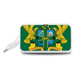 National Seal of Ghana Portable Speaker (White)