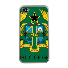 National Seal of Ghana Apple iPhone 4 Case (Clear)