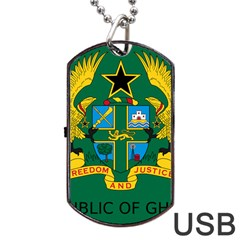 National Seal of Ghana Dog Tag USB Flash (Two Sides)